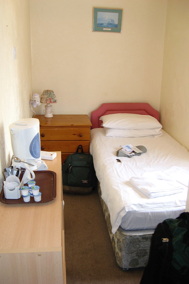 a Spartan room